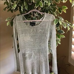 Crochet Metallic Top